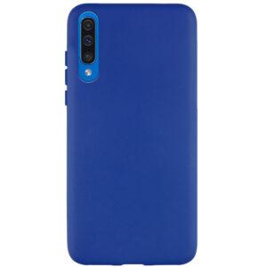 Матовый силиконовый TPU чехол для Samsung A50 / A30s – Синий