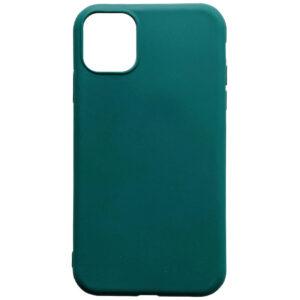 Матовый силиконовый TPU чехол для Iphone 12 Pro / 12 – Зеленый / Forest green