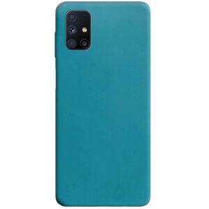 Матовый силиконовый TPU чехол для Samsung Galaxy M51 – Синий / Powder Blue