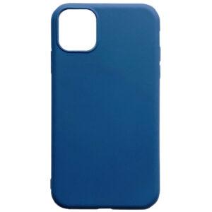 Матовый силиконовый TPU чехол для Iphone 12 Pro / 12 – Синий
