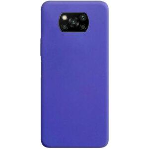 Матовый силиконовый TPU чехол для Xiaomi Poco X3 NFC / Poco X3 – Сиреневый