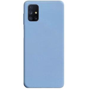 Матовый силиконовый TPU чехол для Samsung Galaxy M51 – Голубой / Lilac Blue
