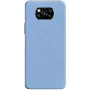 Матовый силиконовый TPU чехол для Xiaomi Poco X3 NFC / Poco X3 – Голубой / Lilac Blue