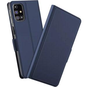 Чехол-книжка Dux Ducis с карманом для Samsung Galaxy M51 — Синий