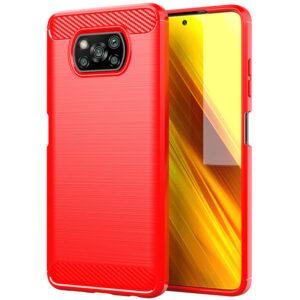 Cиликоновый TPU чехол Slim Series для Xiaomi Poco X3 NFC / Poco X3 – Красный