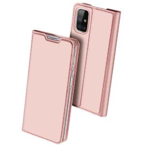 Чехол-книжка Dux Ducis с карманом для Samsung Galaxy M51 — Rose Gold