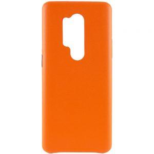 Кожаный чехол Leather Case для OnePlus 8 Pro – Оранжевый