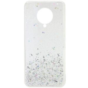 Cиликоновый чехол с блестками Shine Glitter для Xiaomi Redmi K30 Pro / Poco F2 Pro – Прозрачный