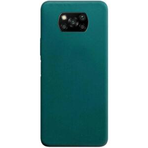 Матовый силиконовый TPU чехол для Xiaomi Poco X3 NFC / Poco X3 – Зеленый / Forest green
