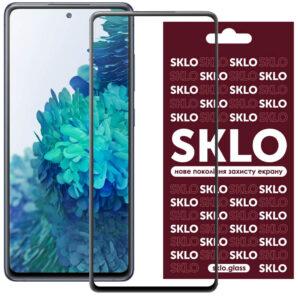 Защитное стекло 3D / 5D Premium SKLO Full Glue на весь экран для Samsung Galaxy S20 FE – Black