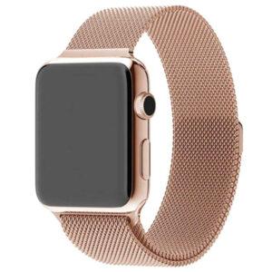 Ремешек Миланская петля Milanese Loop для Apple Watch 42 mm / 44 mm / SE 44 mm – Champagne gold