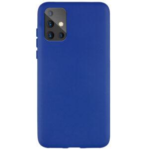 Матовый силиконовый TPU чехол для Samsung Galaxy A71 – Синий