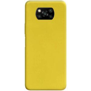 Матовый силиконовый TPU чехол для Xiaomi Poco X3 NFC / Poco X3 – Желтый