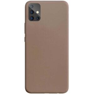 Матовый силиконовый TPU чехол для Samsung Galaxy A71 – Коричневый