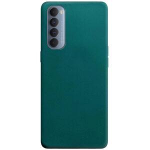 Матовый силиконовый TPU чехол для Oppo Reno 4 Pro – Зеленый / Forest green