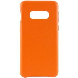 Кожаный чехол Leather Case для Samsung Galaxy S10e (G970) – Оранжевый