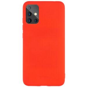 Матовый силиконовый TPU чехол для Samsung Galaxy A71 – Красный