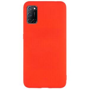 Матовый силиконовый TPU чехол для Oppo A52 / A72 / A92 – Красный
