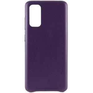 Кожаный чехол Leather Case для Samsung Galaxy S20 – Фиолетовый