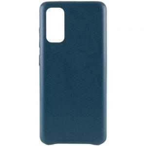 Кожаный чехол Leather Case для Samsung Galaxy S20 Plus – Зеленый