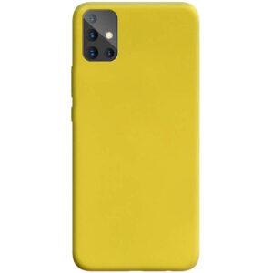 Матовый силиконовый TPU чехол для Samsung Galaxy A71 – Желтый