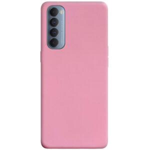 Матовый силиконовый TPU чехол для Oppo Reno 4 Pro – Розовый