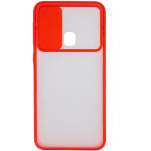 Чехол Camshield mate TPU со шторкой для камеры для Realme C15 / C12 – Красный