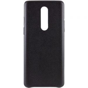 Кожаный чехол Leather Case для OnePlus 8 – Черный