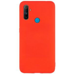 Матовый силиконовый TPU чехол для Realme C3 – Красный