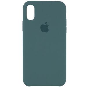 Оригинальный чехол Silicone Case с микрофиброй для Iphone XR – Зеленый / Pine green