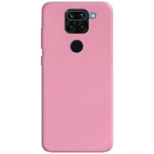 Матовый силиконовый TPU чехол для Xiaomi Redmi Note 9 / Redmi 10X – Розовый