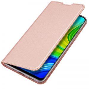 Чехол-книжка Dux Ducis с карманом для Xiaomi Mi 10T / Mi 10T Pro – Rose Gold