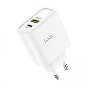 Сетевое зарядное устройство Hoco C57A PD + Quick Charge 3.0 1USB / 3.1A – White