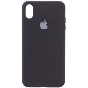 Оригинальный чехол Silicone Cover 360 с микрофиброй для Iphone XR – Черный / Black
