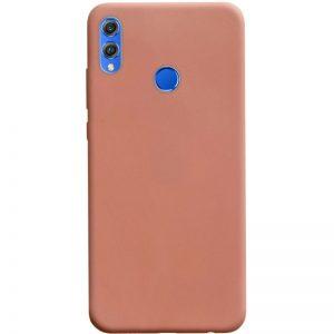 Матовый силиконовый TPU чехол на Huawei Honor 8x – Rose Gold