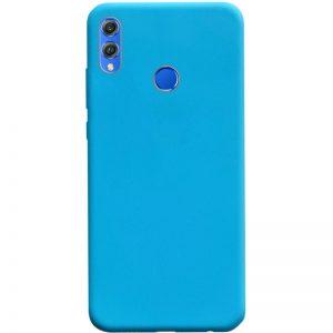 Матовый силиконовый TPU чехол на Huawei Honor 8x – Голубой