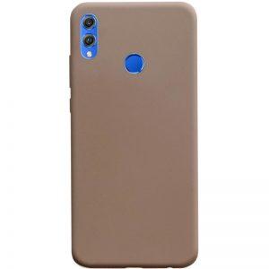 Матовый силиконовый TPU чехол на Huawei Honor 8x – Коричневый