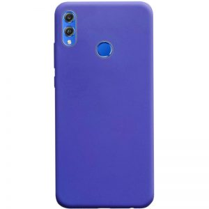 Матовый силиконовый TPU чехол на Huawei Honor 8x – Сиреневый