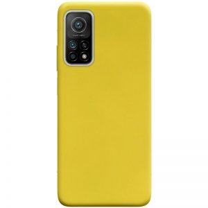 Матовый силиконовый TPU чехол для Xiaomi Mi 10T / Mi 10T Pro – Желтый