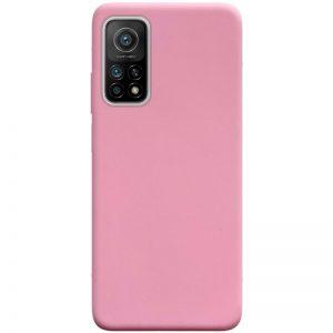 Матовый силиконовый TPU чехол для Xiaomi Mi 10T / Mi 10T Pro – Розовый