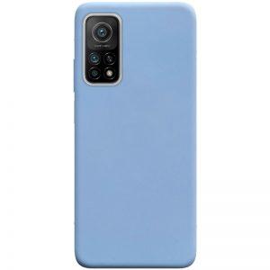 Матовый силиконовый TPU чехол для Xiaomi Mi 10T / Mi 10T Pro – Голубой / Lilac Blue