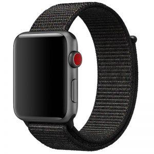 Ремешок Nylon для Apple Watch 38 mm / 40 mm / SE 40 mm – Черный / Black