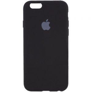 Оригинальный чехол Silicone Cover 360 с микрофиброй для Iphone 7 / 8 / SE (2020) – Черный / Black
