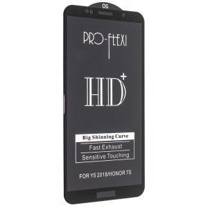 Защитное стекло 3D (5D) PRO-FLEXI HD+ для Huawei Y5P / Y5 / Y5 Prime 2018 / Honor 7A  — Black