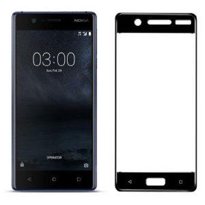 Защитное стекло 3D (5D) Perfect Glass HD+ на весь экран для Nokia 5 — Black