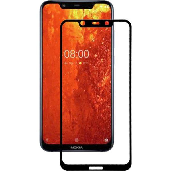 Защитное стекло 3D (5D) Full Glue Armor Glass на весь экран для Nokia 8.1 – Black