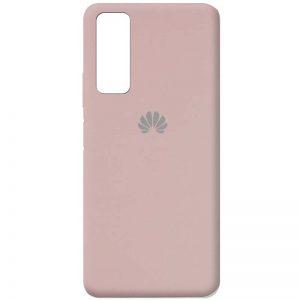 Оригинальный чехол Silicone Cover 360 с микрофиброй для Huawei P Smart 2021 – Розовый  / Pink Sand