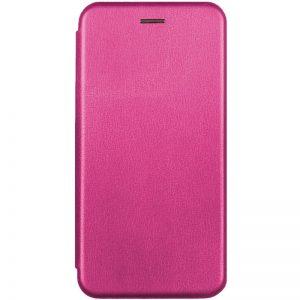 Кожаный чехол-книжка 360 с визитницей для Samsung Galaxy S20 FE – Розовый