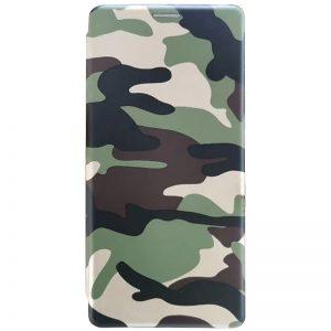 Кожаный чехол-книжка 360 с визитницей для Samsung Galaxy S20 FE – Camouflage