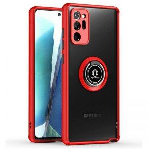 Чехол TPU+PC Deen ColorEdgingRing с креплением под магнитный держатель для Samsung Galaxy Note 20 Ultra – Красный
